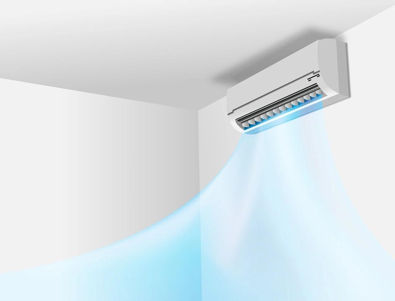 Klimatizace v horním rohu